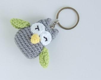 Plush owl plush keychain owl amigurumi, plushie owl tiny gifts for friends, little owl animal plush, stuffie owl, stuffed animal, new house