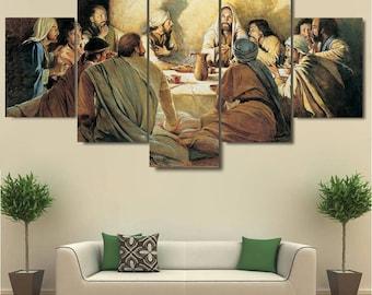 Last Supper Wall Art, Last Supper Canvas Art, Last Supper Wall Decor, Last Part 45