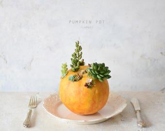 Pumpkin Pot (Large) orange