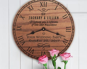 Personalized Wedding Gift From Wedding Party - Gift for Bride and Groom From Bridal Party - Custom Names - Wedding Party Message