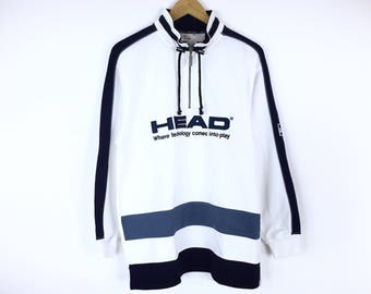Sale!!! Rare!!! Head Sweatshirt Pullover Jumper Big Logo Spellout Sweater