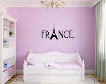 France With Eiffel Tower Decal Nursery, Children, Wall Decal   Great For  Home,