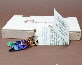 Boucles d'oreilles de la Pensée Magique, Pathfinder, anxiété, cotte de maille, aluminium, option sans nickel, jeux RPG, Donjons et Dragons