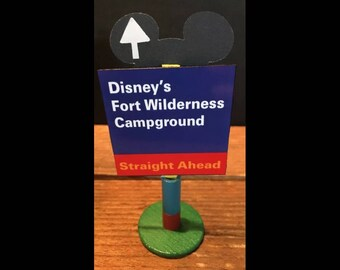 handmade Disney inspired road sign Disney's Fort Wilderness Campground