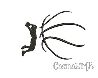 7 Size Basketball Embroidery design  Machine Embroidery - Digital INSTANT DOWNLOAD
