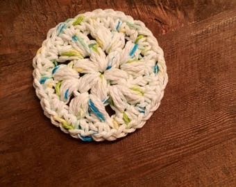 100% Cotton Crochet Face Scrubby (Set of 6)