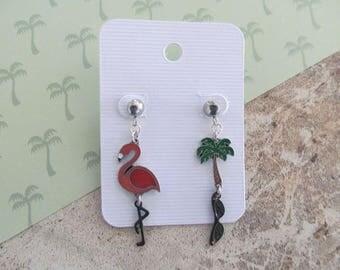 Pink Flamingo Stud Earrings, Flamingo Stud Earrings, Stud Earrings, Flamingo Jewelry, Flamingo Accessories, Beach Jewelry