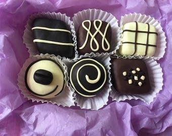 6 handmade polymer clay chocolate dessert pattern weights