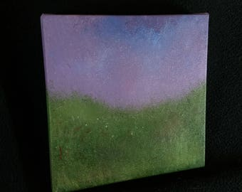 "Ambient Painting ""Grass-Froth"" a small acrylic on canvas"
