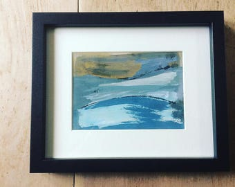 Rich Colours - Original Framed Monoprint - Fiona Charis Carswell 'Straight From The Studio' - RiverRunning