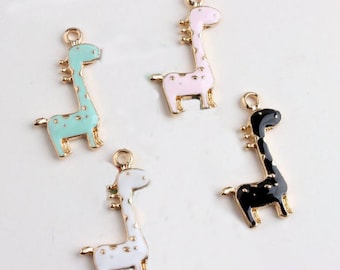Giraffe Charms, 10PCS, 17*30mm, Animal Charm, Deer Charm, Metal Charm, Jelwelry Supplies
