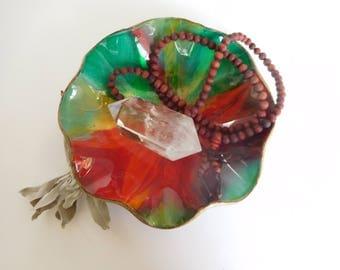Sacred Fire Salamander ~ Offering Bowl