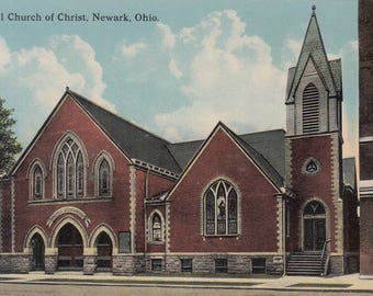 Newark, Ohio Vintage Postcard - Central Church of Christ