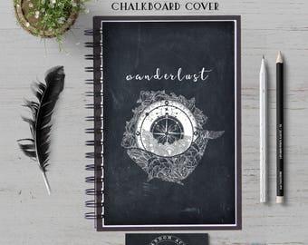 Wanderlust Travel Notebook, Travel Journal,  Adventure Journal, Lined Journal, Travel Diary, Hardcover, Spiral Notebook, Bullet Journal