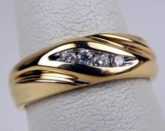 14k yellow Gold diamond ring #10439