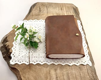 Handmade Refillable Leather Journal, Handmade Refillable Leather Diary, Refillable Leather Book, Refillable Leather Notebook