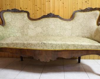 Spanish Art Nouveau Jugendstil Kanape Sofa Antik Antique 1890s-1910s Modernist