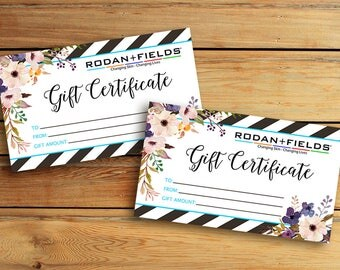 Rodan + Fields Gift Certificate Business Card - Digital File - Rodan + Fields  - Immediately available after your purchase