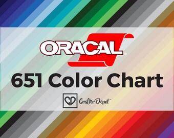 Oracal 651 Color Chart, Vinyl Color Chart, Color Sample, Sample Book, 651 Oracal Vinyl, Self Adhesive Vinyl, Permanent Vinyl