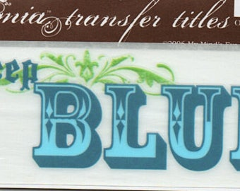 The Deep Blue Title Rub On Transfer Embellishments Cardmaking Crafts My Mind's Eye Bohemia
