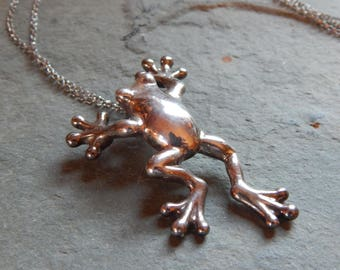 Sterling Silver Tree Frog Pendant made in Israel