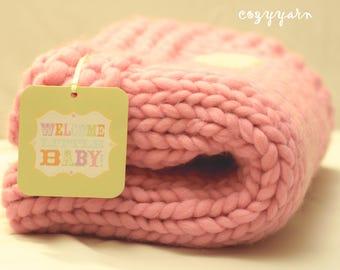Wool Baby Blanket New Born Blanket Baby Blanket New Baby Gift Baby Girl Blanket Baby Shower Gift Girl Baby Blanket Pink Blanket Baby Shower