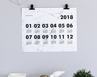 Marble calendar 2018 by kajastef with clips
