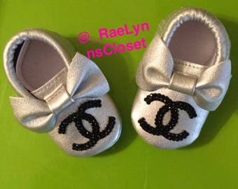Chanel Baby Shoes - Baby Moccasins - Baby Booties - Baby First Shoes - Chanel - Chanel Baby