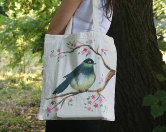 Cotton tote bag, cotton tote, canvas tote bag, personalized tote bag, hand painted bag, tote canvas, tote bag canvas, tote hand painted,tote