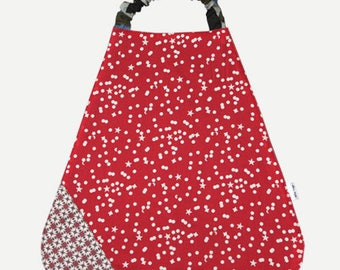 Bib elasticated Terry and cotton stars and dots