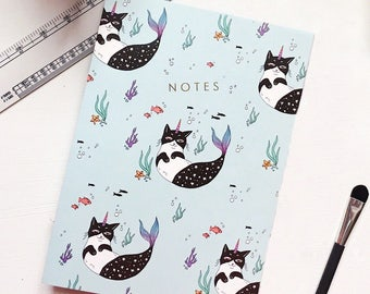 Central 23 You Can Be Anything Cat Unicorn Mermaid Notebook