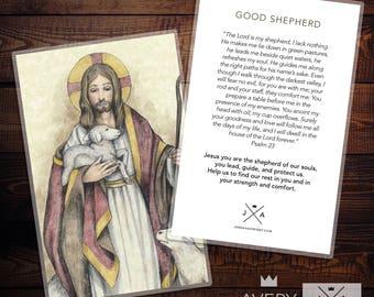 The Good Shepherd Prayer Card