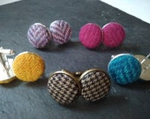 Tweed Button Cufflinks