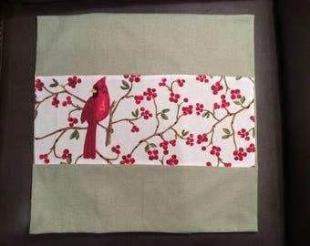Handmade Cardinal Cushion Cover