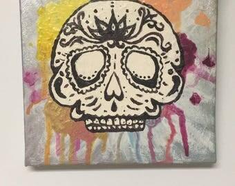 Metallic Sugar Skull ORIGINAL