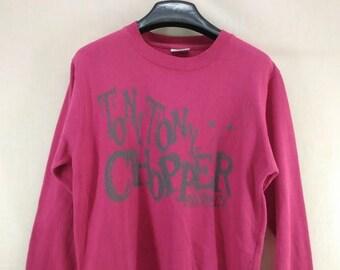 CLEARANCE SALE /// 20% Vintage One Piece Anime Tony Tony Chopper Sweatshirt Funky Japanese Pirates Street Wear Swag Sweater Size S