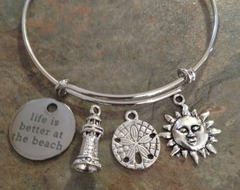 Life is Better at the Beach bracelet