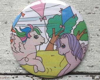 77mm handbag / pocket mirror My Little Pony annual 1988