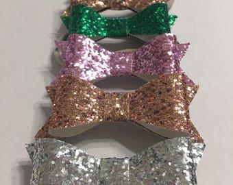 Handmade bow, glitter bow headband, baby girl headband, nylon headband, infant headband, baby bow headband, toddler bow, toddler headbands