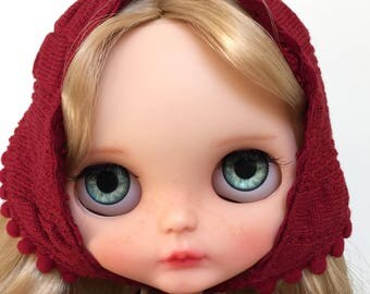 Custom Blythe doll OOAK blythe original Blythe with Azone body and tilting neck.