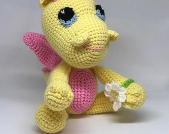Twinkle the Magical Dragon - Handmade Crochet MADE TO ORDER