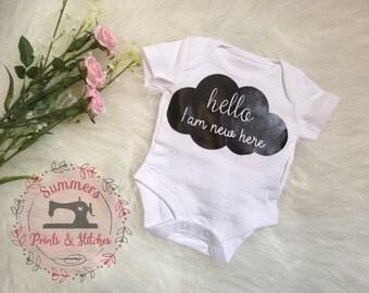 NEWBORN baby vest - new BABY BODYSUIT - baby shower gift - new baby gift - cute babygrow - baby girl clothing