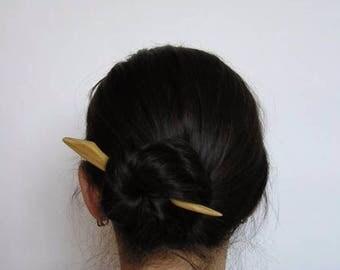 Wooden  barrette, Hair sticks, Wooden hairpin,  The original hairpin, Hair-slide, Spike heel wood, Hair ornament,Shawl Pin