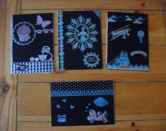 4  x Handmade Birthday Cards with Envelopes and Cello Bags