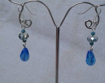 """Earrings """"pretty faceted beads"""""""