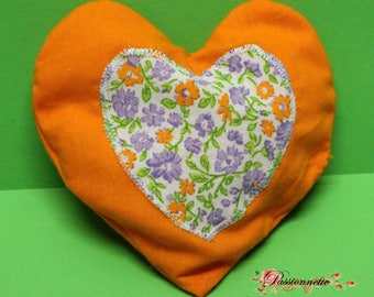 Small heating pad rice heart, handmade