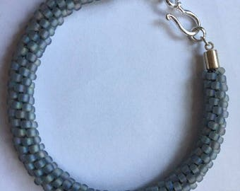 Kumihimo Bracelet:  Periwinkle with Matte finish