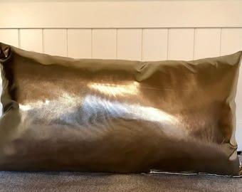Copper Throw pillow. Copper metallic throw pillows
