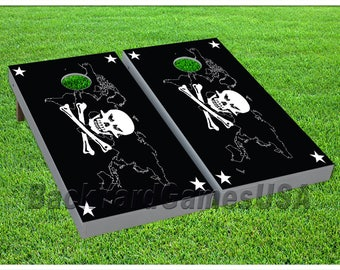 Map bags etsy studio vinyl wraps cornhole boards decal skull crossbones world map bag toss game stickers 955 gumiabroncs Images