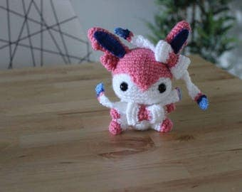Sylveon Crochet Pokemon Amigurumu Stuffed Doll